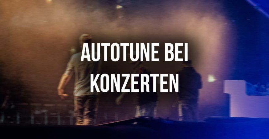 Autotune bei Konzerten Bild