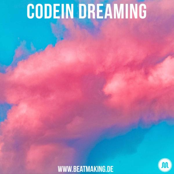 Codein Dreaming Coverart mit Lila Wolken in blauem Himmel